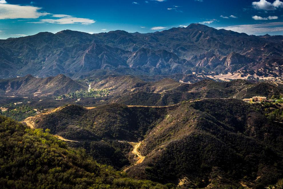 Aerial View of Calabasas and Santa Monica Mountains