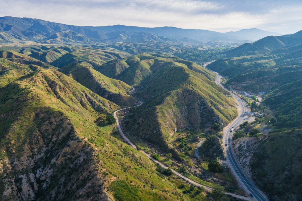 Aerial View of Canyon Country CA