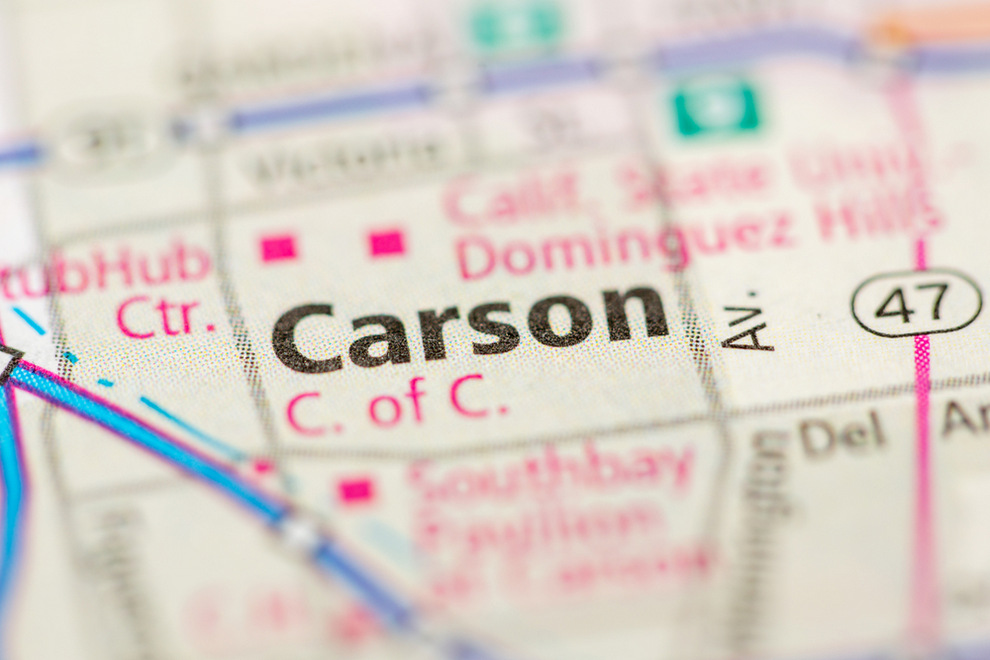 Aerial View of Carson CA