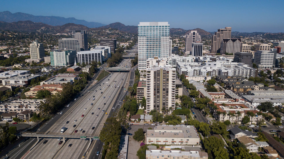 Aerial View of Downtown Glendale CA