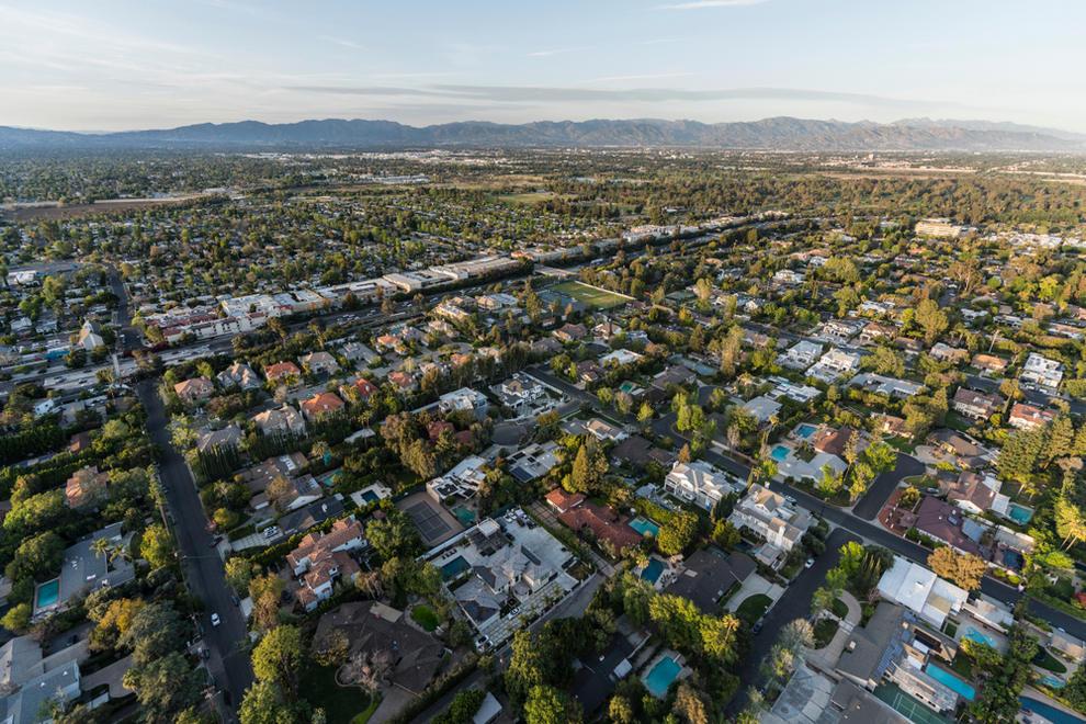 Aerial View of Encino CA