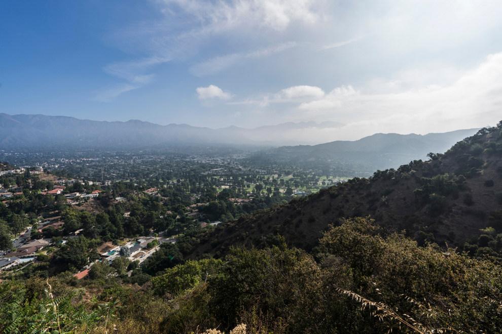 Aerial View of La Canada Flintridge CA