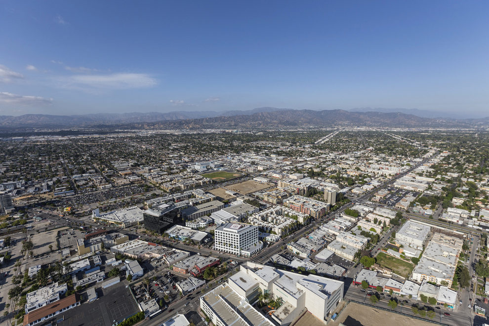 Aerial View of North Hollywood