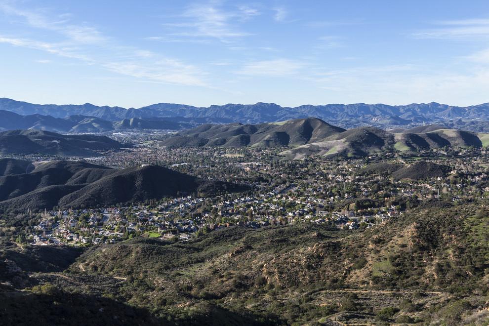 Aerial View of Oak park CA