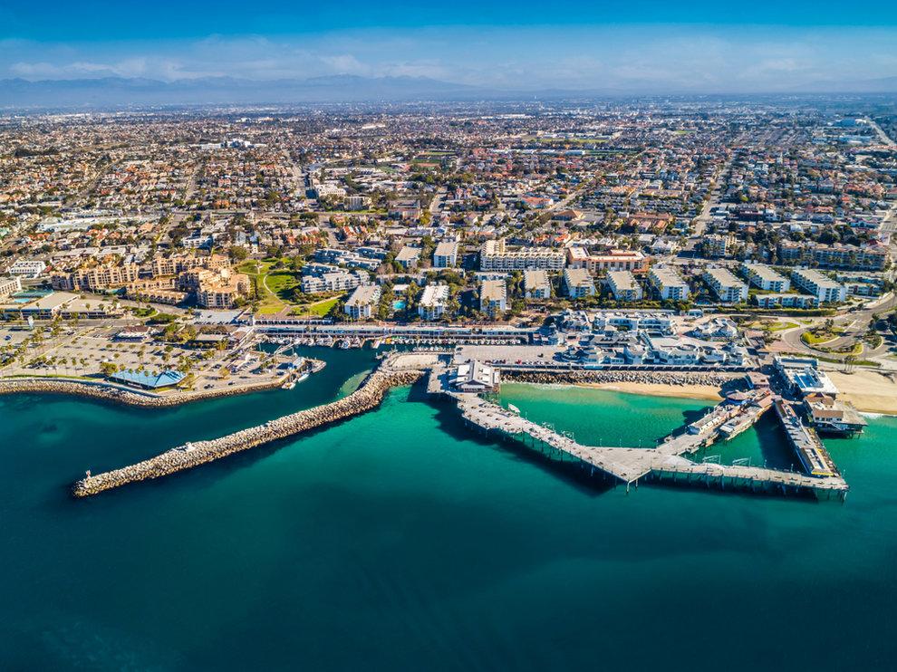Aerial View of Pier in Redondo Beach CA