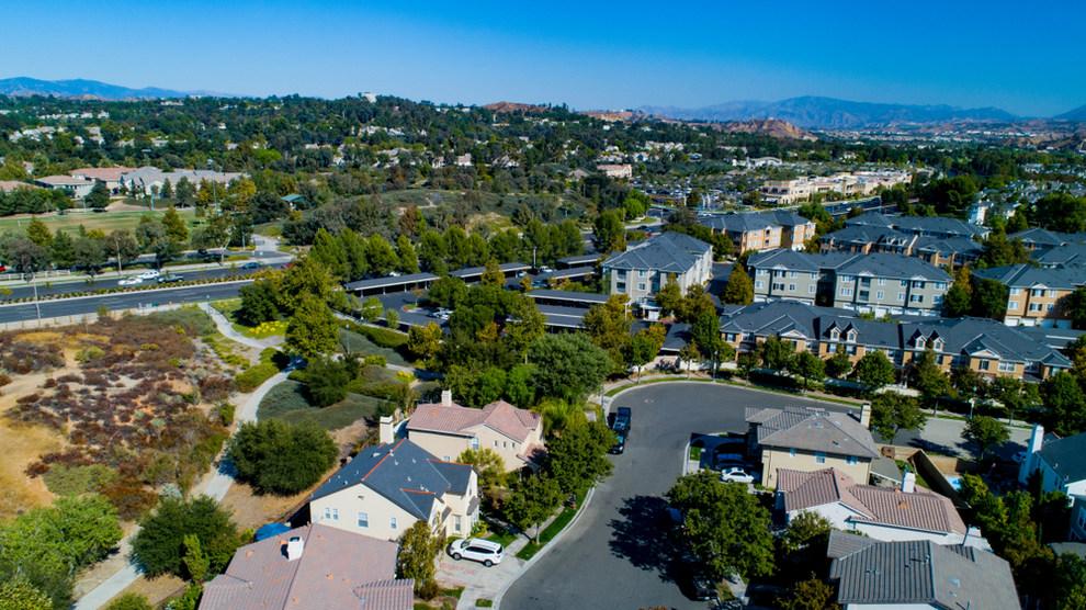 Aerial View of Santa Clarita CA