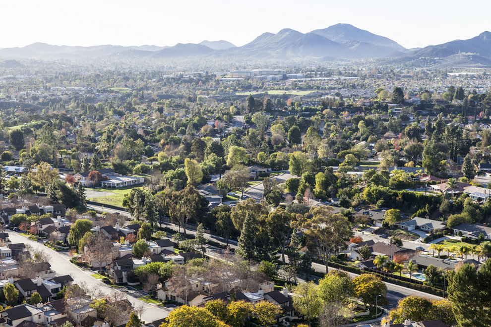 Aerial View of Thousand Oaks CA
