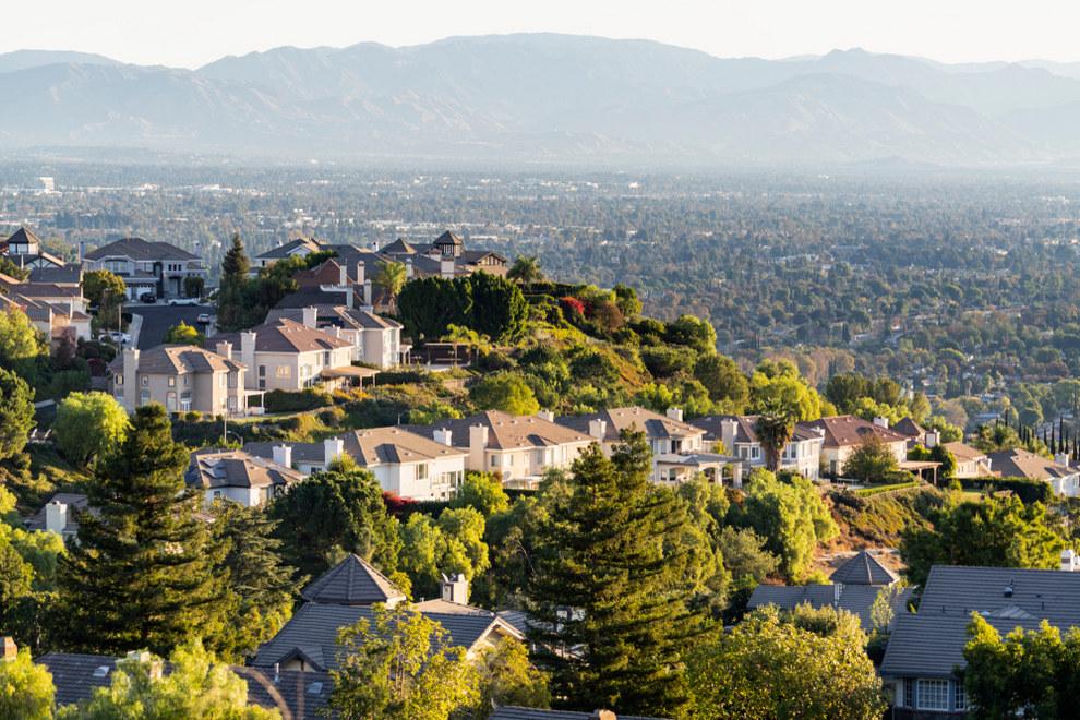 Aerial View of West Hills Neighborhood