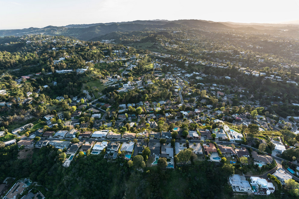 Aerial View of West Hollywood CA