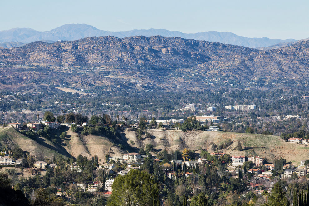 Aerial View of Woodland Hills CA