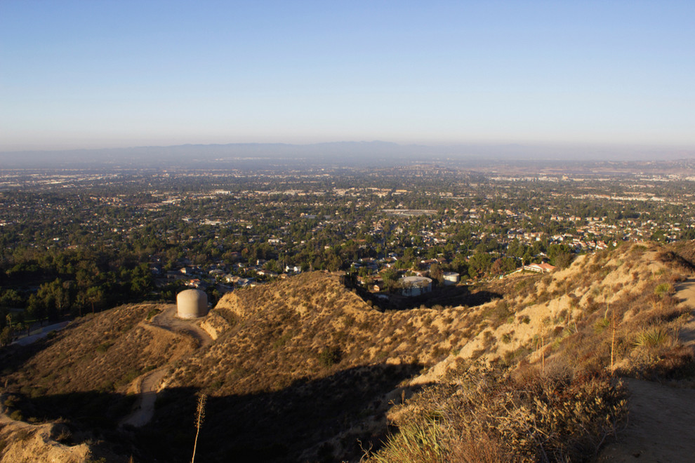 Aerial View of the Hills of Sylmar CA