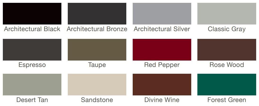 Casement window colors